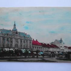 Satu Mare, Piata I.C.Bratianu - Carte Postala Maramures 1904-1918, Circulata, Printata