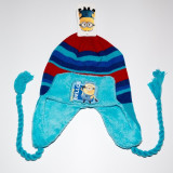 Caciula din tricot Minions albastru ciel