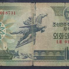 COREEA DE NORD 10 WON 1988 [37] P-29, starea din imagine - bancnota asia