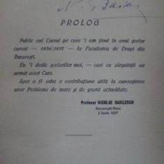 Ordinea sociala si adversarii ei, Nicolae Basilescu, Bucuresti 1937 cu dedicatia autorului - Carte veche