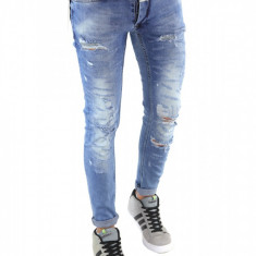 Blugi tip Zara fashion - blugi barbati blugi slimfit blugi conici 6363, Marime: 32, Culoare: Din imagine