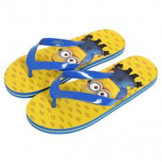 Slapi flip-flops Minions - Slapi copii, Fete, Marime: 28, Galben