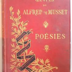 OEUVRES COMPLETES DE ALFRED DE MUSSET. POESIES, PARIS 1889 - Carte in alte limbi straine