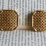 Cercei clips Christian Dior placati cu aur