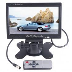 Monitor auto masina LCD 7'' TFT 2 intrari dvd gps camera mers inapoi