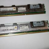 Kit memorii RAM ECC DDR2 Server 2 x 1 GB PC2-5300F-555 Perfect functionale!