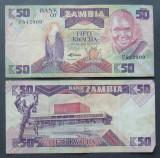 ZAMBIA 1986-1988 - BANCNOTA 50 KWACHA CIRCULATE - BC 33