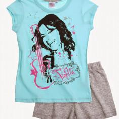 Pijama de vara Disney Violetta turcoaz/gri