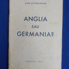 KARL  OLIVECRONA - ANGLIA SAU GERMANIA ? - LUBECK - 1941