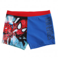 Slip de baie tip boxeri Spiderman albastru