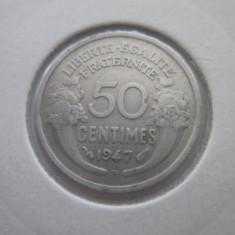 Franta   50 centimes   1947