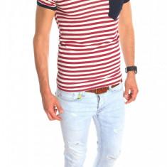 Tricou tip ZARA - tricou barbati - tricou slim fit - tricou fashion - 6351, Culoare: Din imagine