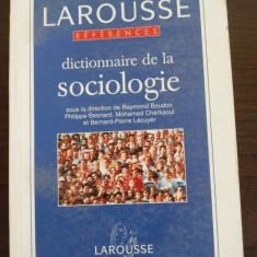 DICTIONNAIRE DE LA SOCIOLOGIE - Raymond Boudon - LAROUSSE, 1996, 280 p.