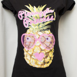 Tricou model cu ananas marimea M