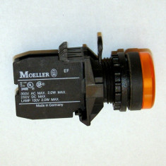 Klockner Moeller IEC-947 EN-60947 VDE-0660 cu led galben 24 Vdc si suport montaj panou(277)