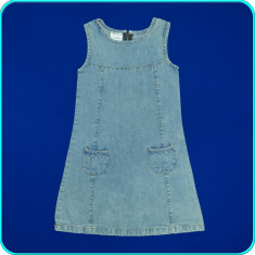 Sarafan de blugi, denim de calitate, IMPIDIMPI _ fetite | 5 - 6 ani | 116, Marime: Alta, Culoare: Bleu