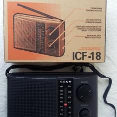RADIO SONY ICF -18, NOU LA CUTIE ! - Aparat radio Sony, Analog