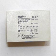 Contacte auxiliare Sprecher Schuh CS3-P pentru releele tip CS3 sau CA3(609)