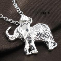 Superb lant + pandantiv stantat argint 925 - elefant - Lantisor argint