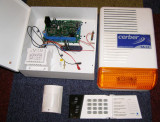 Sistem Complet Alarma CERBER C61 Sirena SA-11 Comunicator GSM Tastatura Senzor