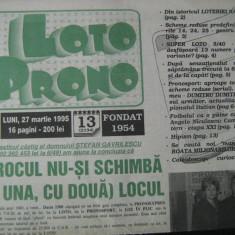 Loto-Prono (27 martie 1995) - ziar