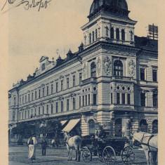 ARAD, PALATUL NEUMANN, TRASURI, TCV, CIRCULATA FEB.''913 - Carte Postala Crisana 1904-1918, Printata