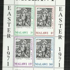 P 5 - PICTURA - MALAWI - BLOC NESTAMPILAT - Timbre straine