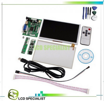 monitor display tft lcd 7 inch module keyboard touch Raspberry hdmi vga rca foto