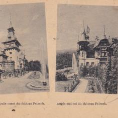 CASTELUL REGAL PELES , VEDEREA FATADEI DE EST SI SUD-EST SOUVENIR DE SINAIA 1900, Circulata, Printata
