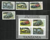 MAS 10  -  MASINI  -  TANZANIA  -    COALA  NESTAMPILATA + SERIE