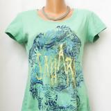 Tricou verde cu imprimeu marimea M