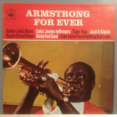 LOUIS ARMSTRONG - FOR EVER (1972/ CBS rec /RFG) - Vinil/Vinyl/Impecabil/JAZZ - Muzica Jazz Columbia