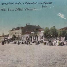ALBA IULIA, PIATA ''MIHAI VITEAZUL'' - Carte Postala Transilvania dupa 1918, Necirculata, Printata