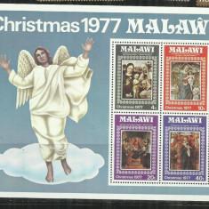 P  54 -  PICTURA   -  MALAWI  -  BLOC   NESTAMPILAT