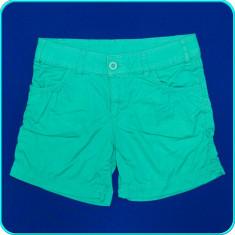 DE FIRMA _ Pantaloni scurti, bumbac de calitate, H&M _ fete | 11 - 12 ani | 152, Marime: Alta, Culoare: Verde