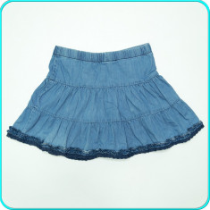 DE FIRMA → Fusta blugi de vara, denim subtire ZARA → fete | 7-8 ani | 122-128 cm, Marime: Alta, Baieti