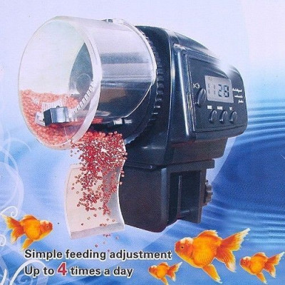 hranitor automat mancare pesti acvariu acvarii feeder lcd ceas zilnic foto