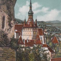 SIGHISOARA, CIRCULATA MAI 1918, K. U. K. - Carte Postala Transilvania dupa 1918, Printata