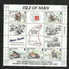 MOT 3 - MOTOCICLETE - ISLE OF MAN - COALA NESTAMPILATA - Timbre straine