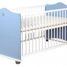 Patut Transformabil Pentru Copii Prince - Patut lemn pentru bebelusi Klups, 140x70cm, Albastru