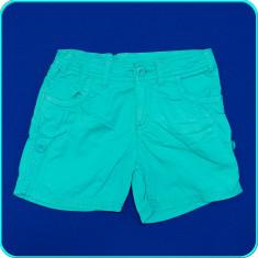 DE FIRMA _ Pantaloni scurti, bumbac, talie reglabila, H&M _ 10 - 11 ani | 146, Marime: Alta, Culoare: Verde, Fete