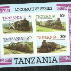 LOC 17 - LOCOMOTIVE - TANZANIA - COLITA NESTAMPILATA - Timbre straine