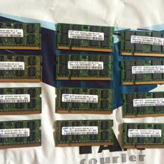 Placute memorie ram laptop 2gb DDR2 Samsung 800Mhz PC2-6400s-666-12-E3