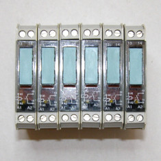 Releu intermediar Siemens 3TX7 002-2AB00 24 Vdc 1 contact no 2.5A 230 V(329)