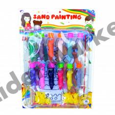 Set de pictura cu creioane cu nisip colorat - Jocuri arta si creatie