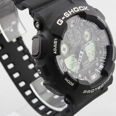 CASIO G-SHOCK GA 100, Black -White Edition - Ceas barbatesc Casio, Mecanic-Manual