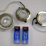 Set 3 spoturi incastrabile cu bec cu dulie G4(054) - Corp de iluminat