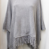 Bluza tip poncho gri, made in Italy, noua