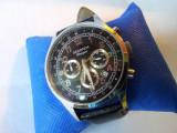 Ceas barbatesc deosebit SEKONDA Chronograph Classique 50M, Elegant, Quartz, Inox