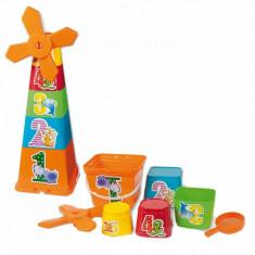 Set Constructie Copii Piramida Adroni Cu Galetuse Si Forme Pentru Nisip - Jucarie nisip
